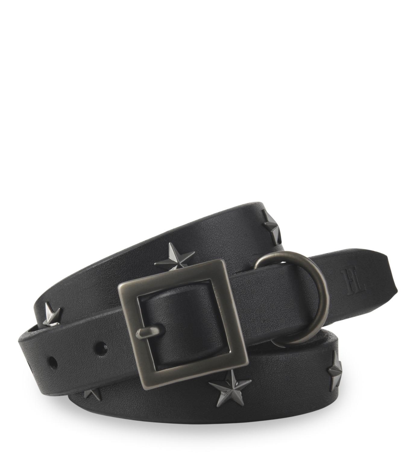 HL HEDDIE LOVU(エイチエル・エディールーヴ)のSaddle STAR BELT-BLACK(ベルト/belt)-16A90005-13 拡大詳細画像1