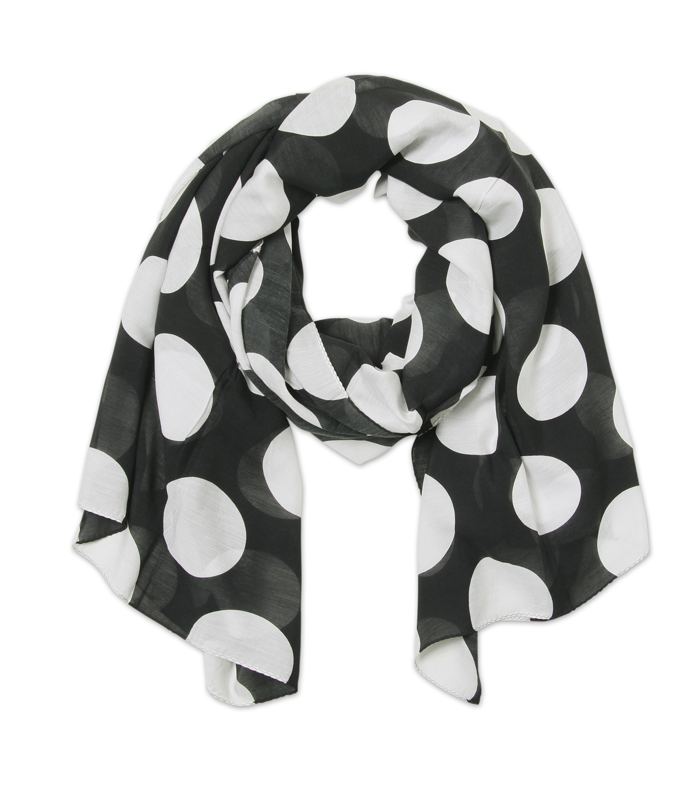 TWO TWO ONE(トゥートゥーワン)のSILK BLEND STOLE SHORT-BLACK(ストール/stole)-16A90007-221-13 拡大詳細画像1