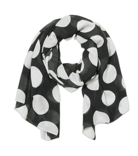 TWO TWO ONE(トゥートゥーワン)のSILK BLEND STOLE SHORT-BLACK(ストール/stole)-16A90007-221-13 詳細画像1