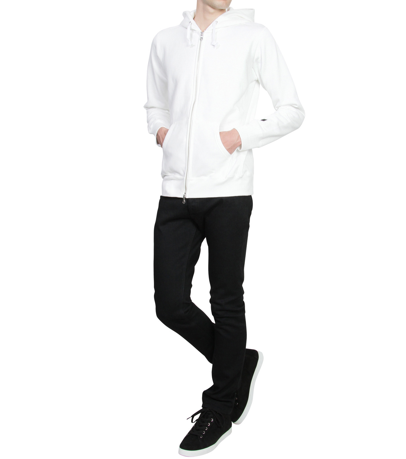 HL HEDDIE LOVU(エイチエル・エディールーヴ)のHL Hooded ZIP-WHITE(カットソー/cut and sewn)-16A92007-4 拡大詳細画像3