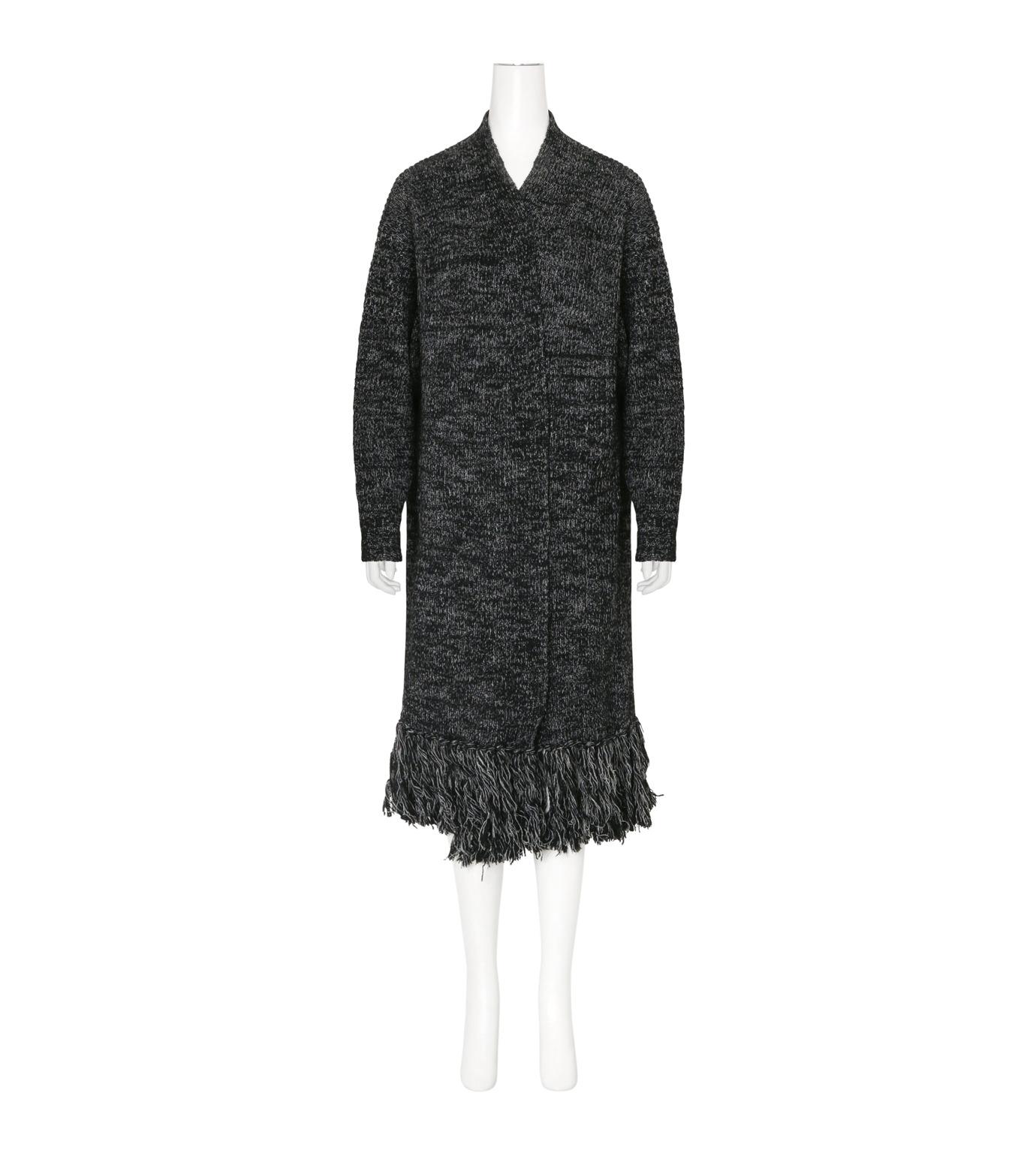 mame(マメ)のFringe Knit Long Cardigan-BLACK(ニット/knit)-16AW-KN054-13 拡大詳細画像1