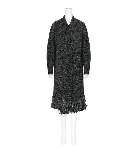 mame(マメ)のFringe Knit Long Cardigan-BLACK(ニット/knit)-16AW-KN054-13 詳細画像1