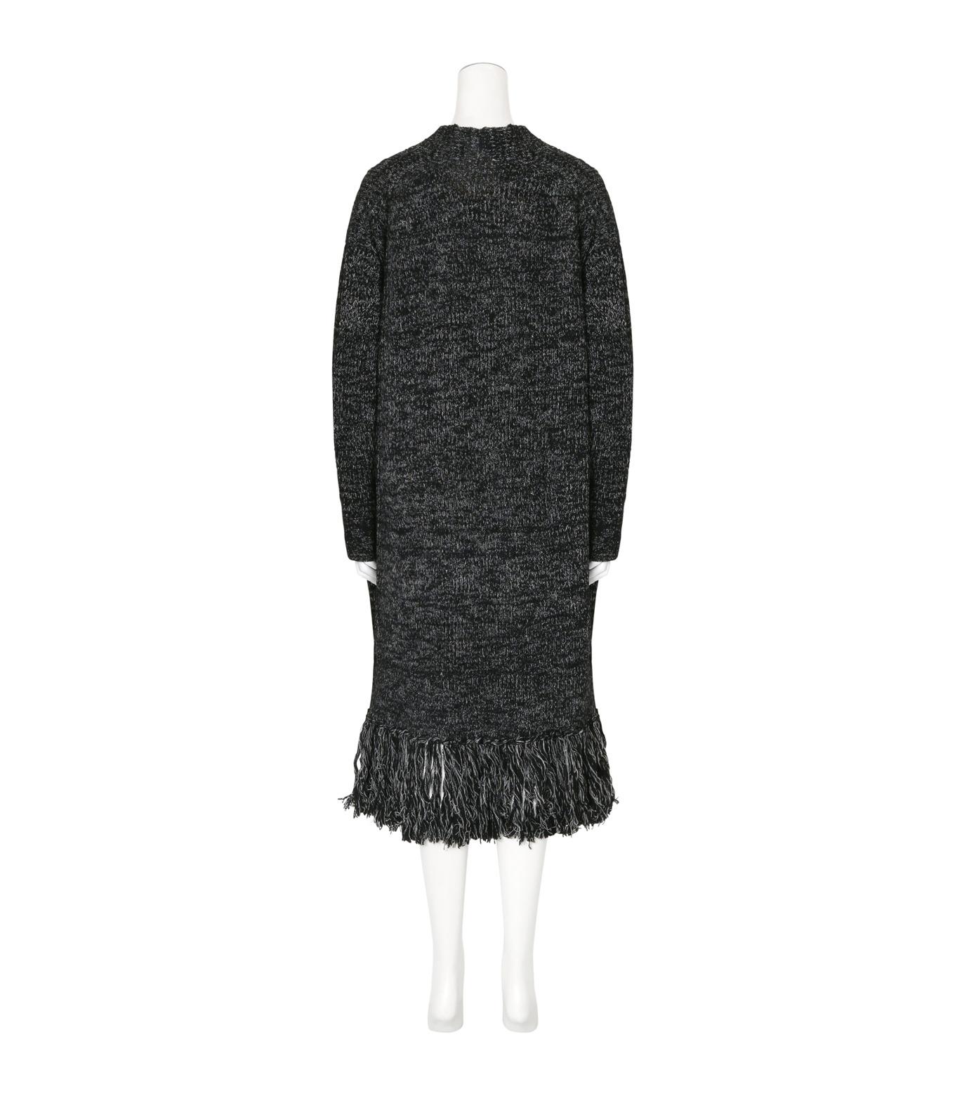 mame(マメ)のFringe Knit Long Cardigan-BLACK(ニット/knit)-16AW-KN054-13 拡大詳細画像2