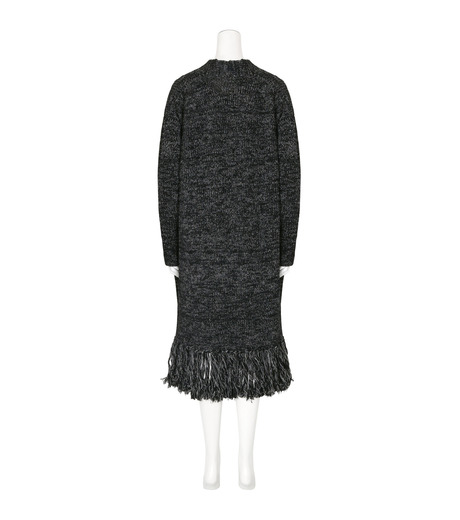 mame(マメ)のFringe Knit Long Cardigan-BLACK(ニット/knit)-16AW-KN054-13 詳細画像2