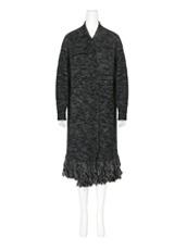 mame Fringe Knit Long Cardigan