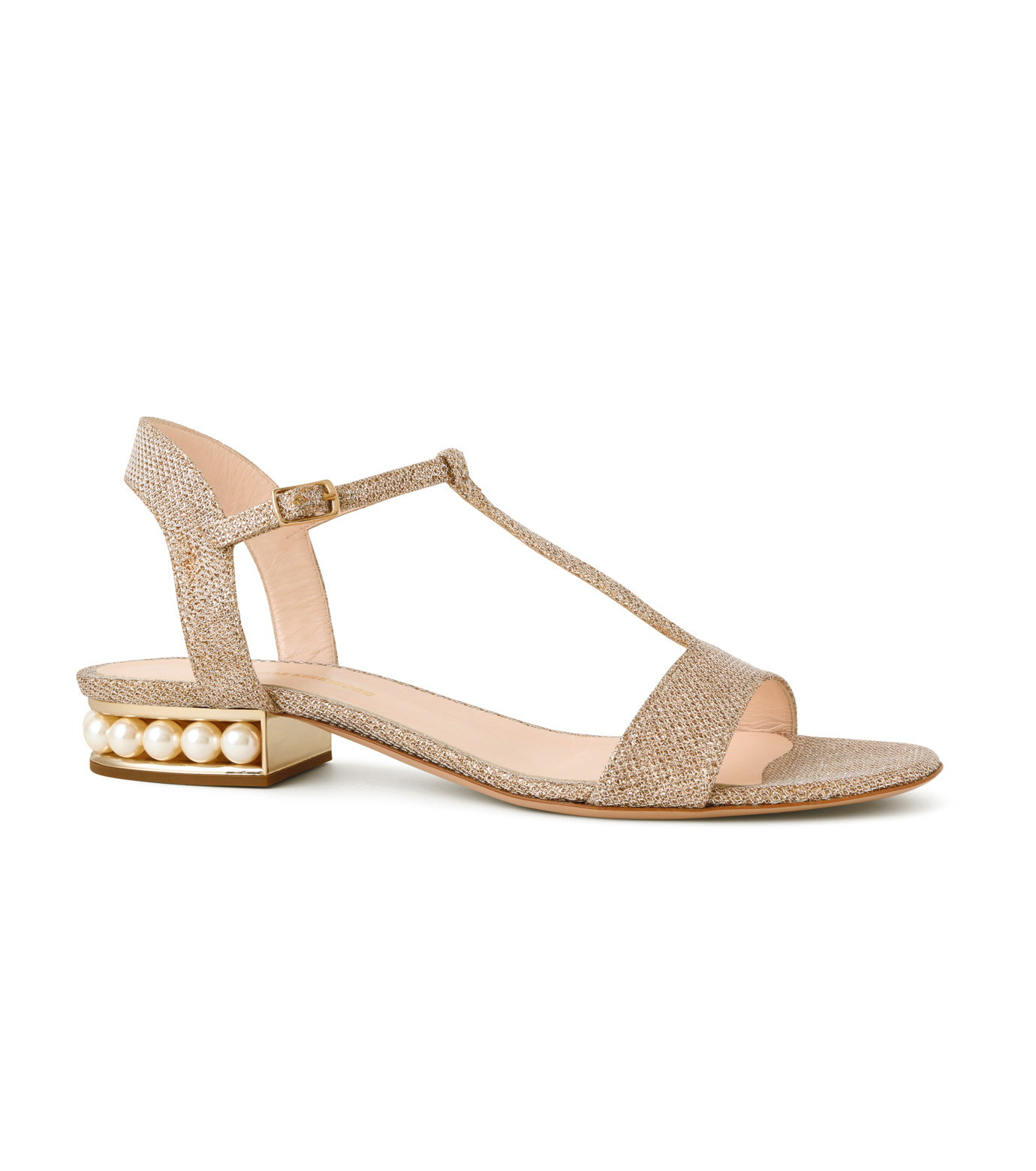 Nicholas  Kirkwood(ニコラス カークウッド)のCasati Pearl Sandal-GOLD(フラットシューズ/Flat shoes)-16S0451-2 拡大詳細画像1
