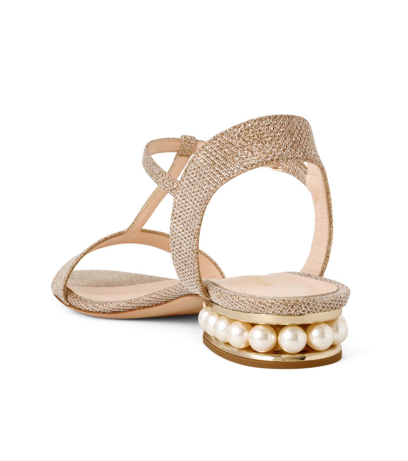Nicholas  Kirkwood(ニコラス カークウッド)のCasati Pearl Sandal-GOLD(フラットシューズ/Flat shoes)-16S0451-2 拡大詳細画像2
