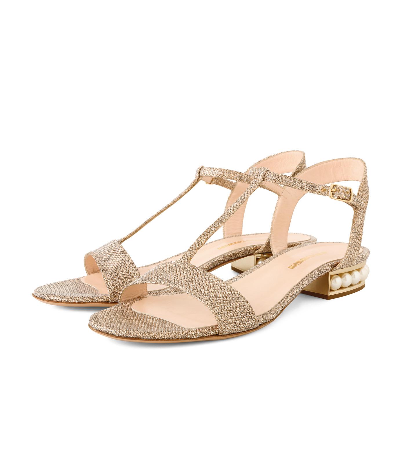 Nicholas  Kirkwood(ニコラス カークウッド)のCasati Pearl Sandal-GOLD(フラットシューズ/Flat shoes)-16S0451-2 拡大詳細画像3