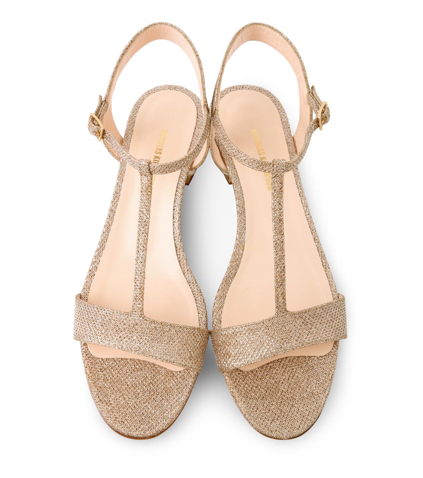 Nicholas  Kirkwood(ニコラス カークウッド)のCasati Pearl Sandal-GOLD(フラットシューズ/Flat shoes)-16S0451-2 拡大詳細画像4