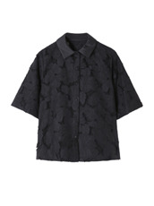 Flower Cut Jacquard Shirt