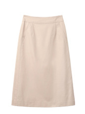 Chino Cloth Tailored Skirt