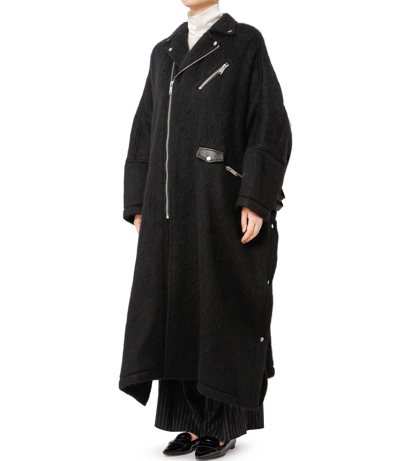 CHRISTIAN DADA(クリスチャン ダダ)のOversized Motorcycle Coat-BLACK(コート/coat)-16W-D-0301-13 拡大詳細画像1