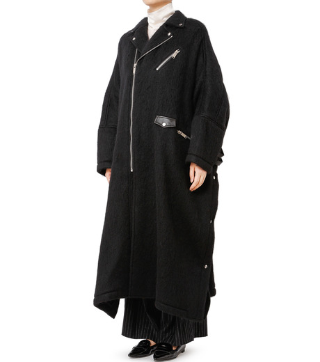 CHRISTIAN DADA(クリスチャン ダダ)のOversized Motorcycle Coat-BLACK(コート/coat)-16W-D-0301-13 詳細画像1