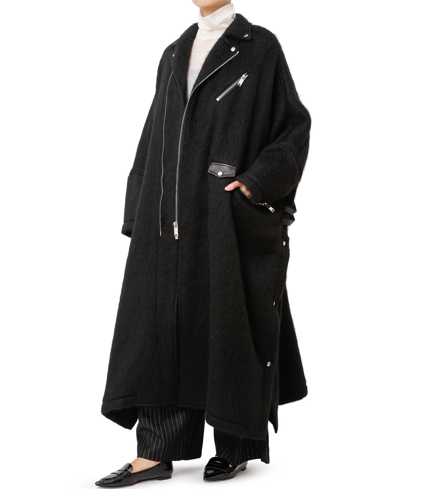 CHRISTIAN DADA(クリスチャン ダダ)のOversized Motorcycle Coat-BLACK(コート/coat)-16W-D-0301-13 拡大詳細画像3
