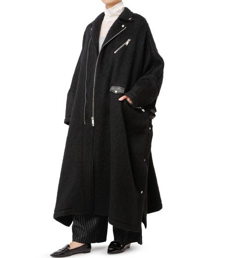 CHRISTIAN DADA(クリスチャン ダダ)のOversized Motorcycle Coat-BLACK(コート/coat)-16W-D-0301-13 詳細画像3