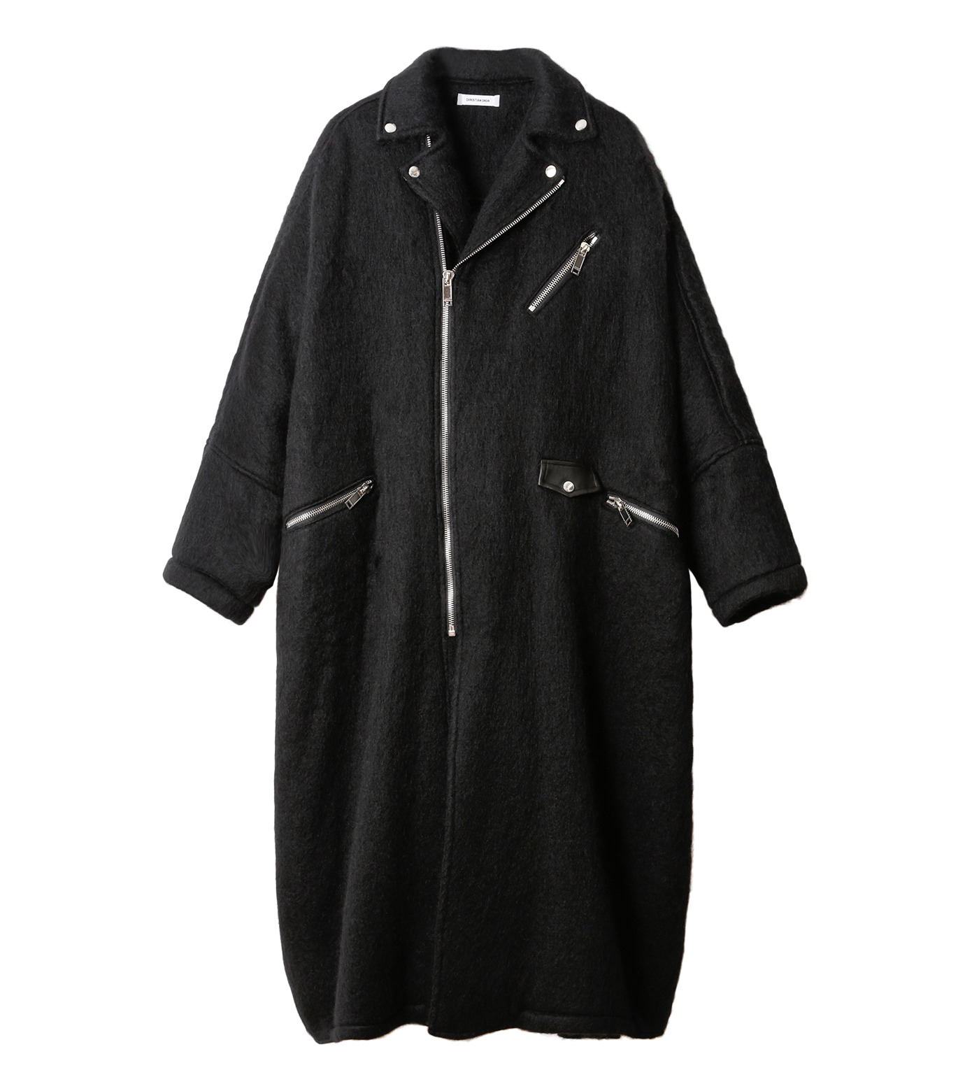 CHRISTIAN DADA(クリスチャン ダダ)のOversized Motorcycle Coat-BLACK(コート/coat)-16W-D-0301-13 拡大詳細画像4