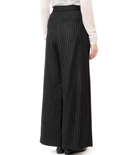 CHRISTIAN DADA(クリスチャン ダダ)のStriped Wideleg Trouser w/Buckle-BLACK(パンツ/pants)-16W-D-0607-13 詳細画像2
