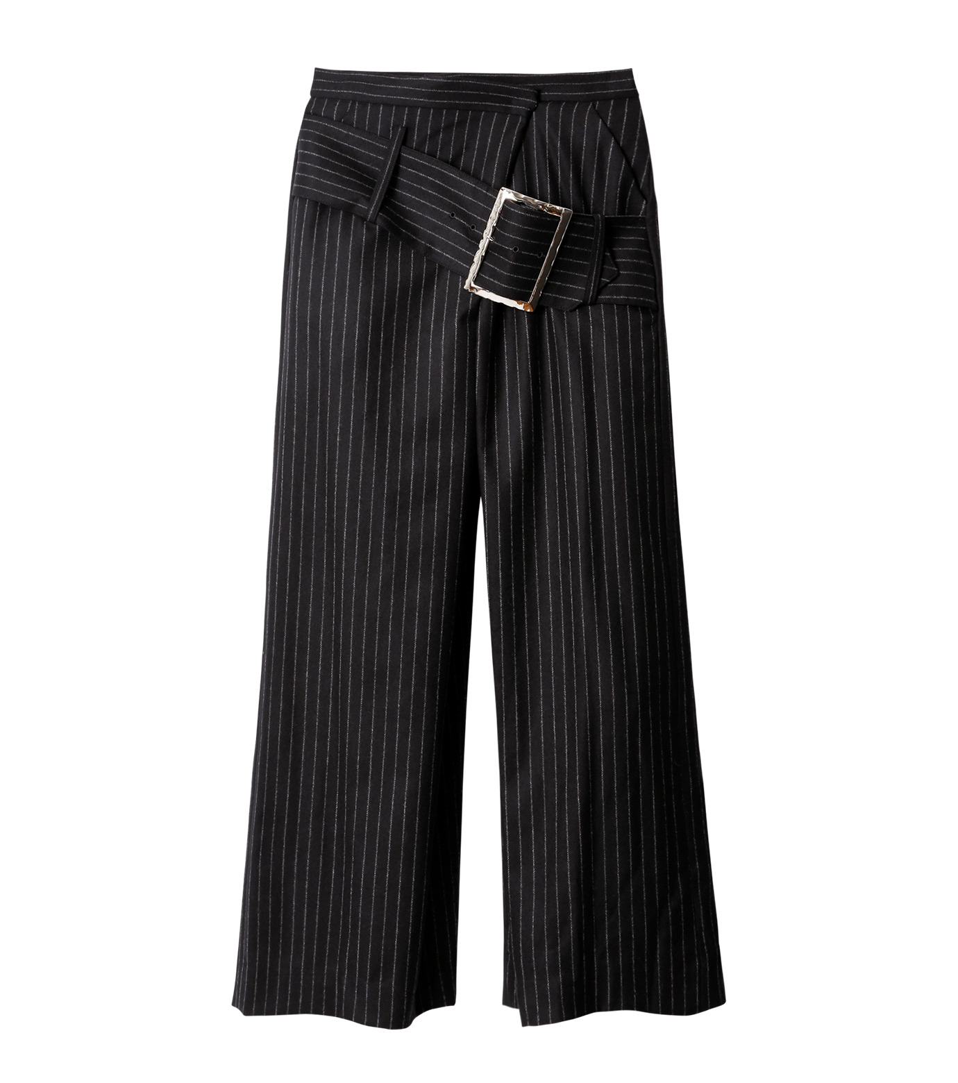 CHRISTIAN DADA(クリスチャン ダダ)のStriped Wideleg Trouser w/Buckle-BLACK(パンツ/pants)-16W-D-0607-13 拡大詳細画像4