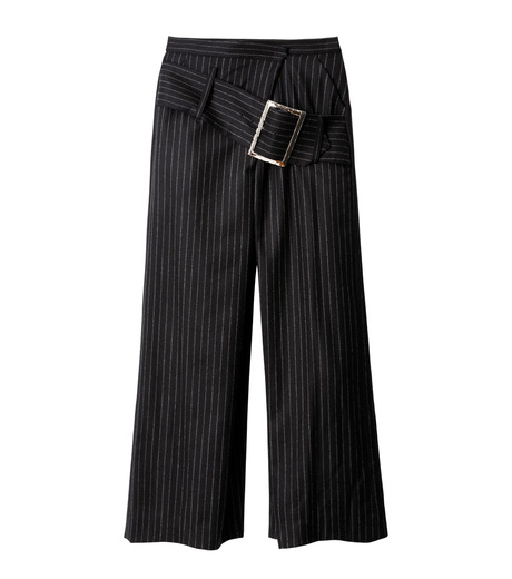 CHRISTIAN DADA(クリスチャン ダダ)のStriped Wideleg Trouser w/Buckle-BLACK(パンツ/pants)-16W-D-0607-13 詳細画像4
