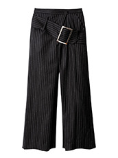 CHRISTIAN DADA(クリスチャン ダダ) Striped Wideleg Trouser w/Buckle