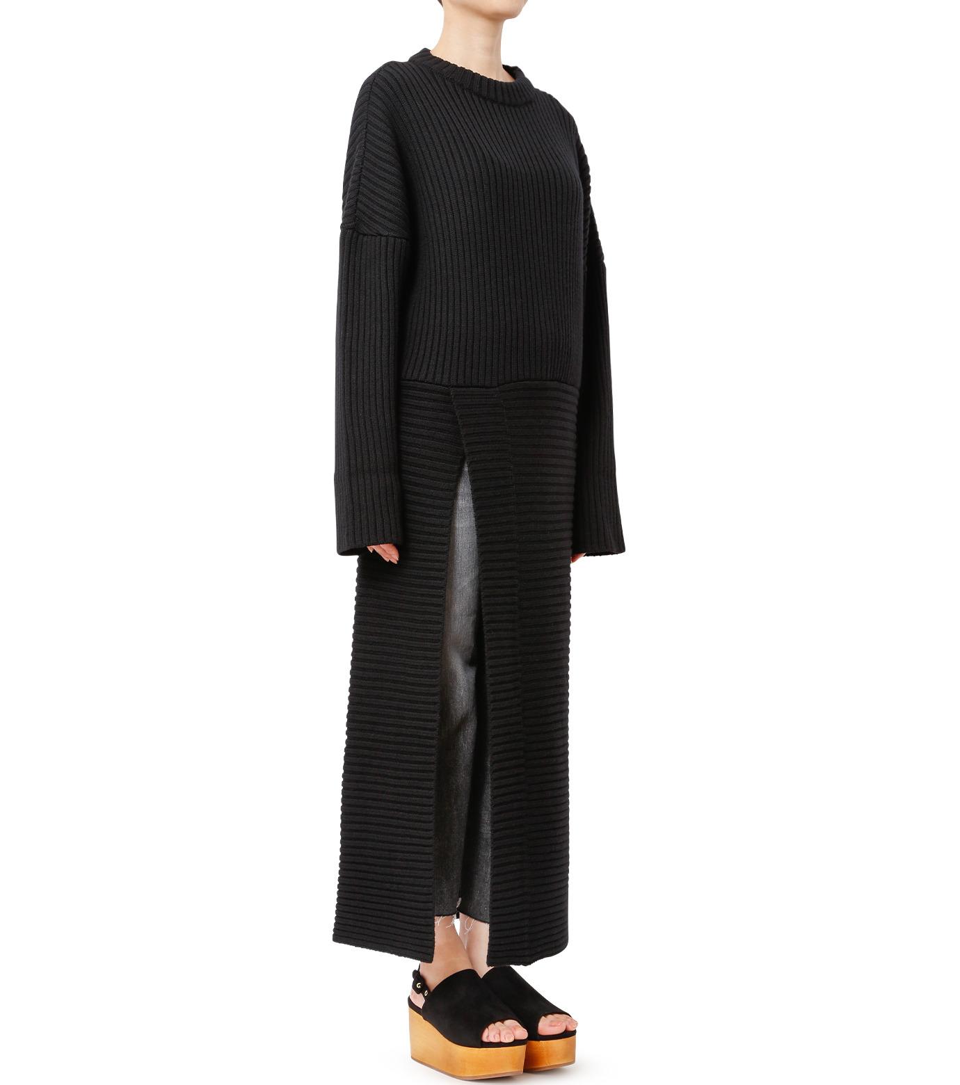 CHRISTIAN DADA(クリスチャン ダダ)のMaxi Knit Dress w/Slit-BLACK(ニット/knit)-16W-D-0806-13 拡大詳細画像2