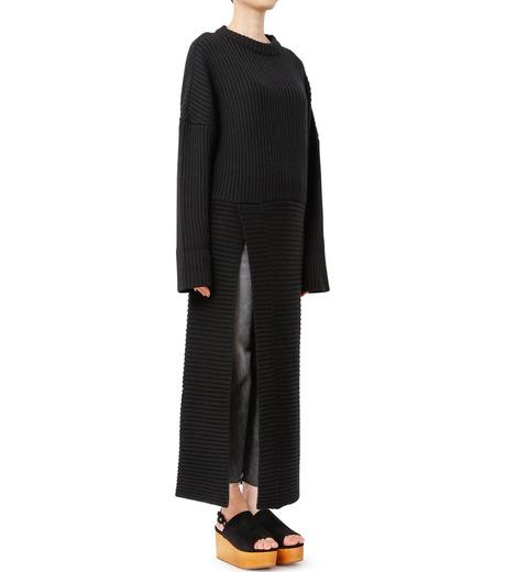 CHRISTIAN DADA(クリスチャン ダダ)のMaxi Knit Dress w/Slit-BLACK(ニット/knit)-16W-D-0806-13 詳細画像2