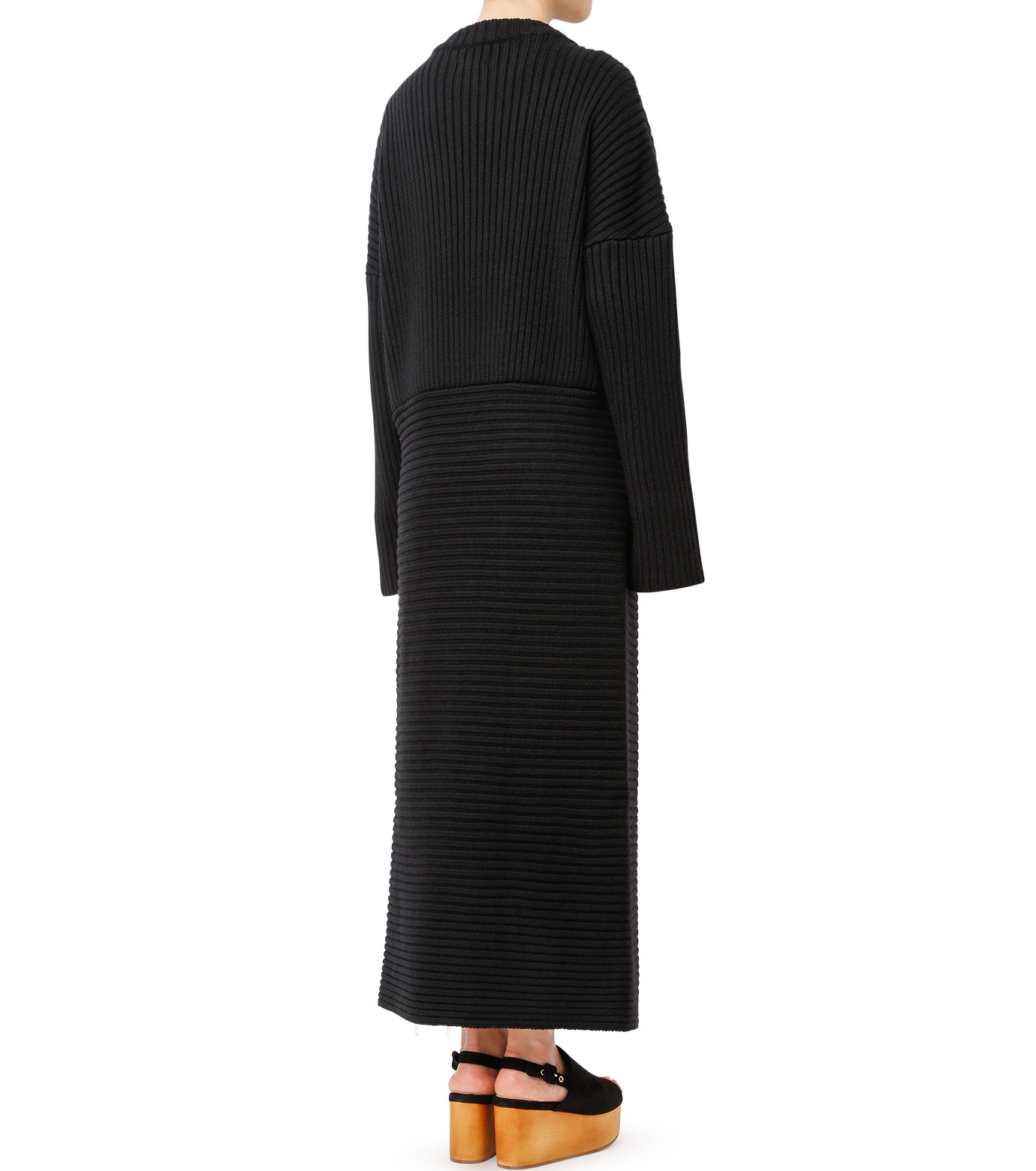 CHRISTIAN DADA(クリスチャン ダダ)のMaxi Knit Dress w/Slit-BLACK(ニット/knit)-16W-D-0806-13 拡大詳細画像3