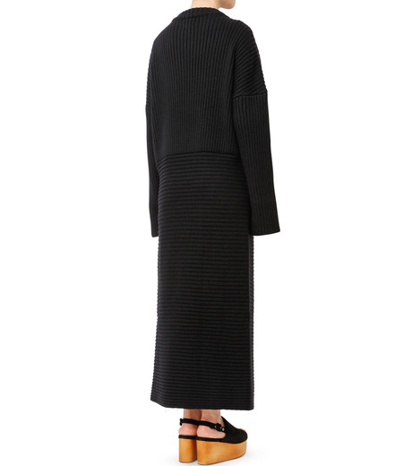 CHRISTIAN DADA(クリスチャン ダダ)のMaxi Knit Dress w/Slit-BLACK(ニット/knit)-16W-D-0806-13 詳細画像3