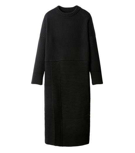 CHRISTIAN DADA(クリスチャン ダダ)のMaxi Knit Dress w/Slit-BLACK(ニット/knit)-16W-D-0806-13 詳細画像4