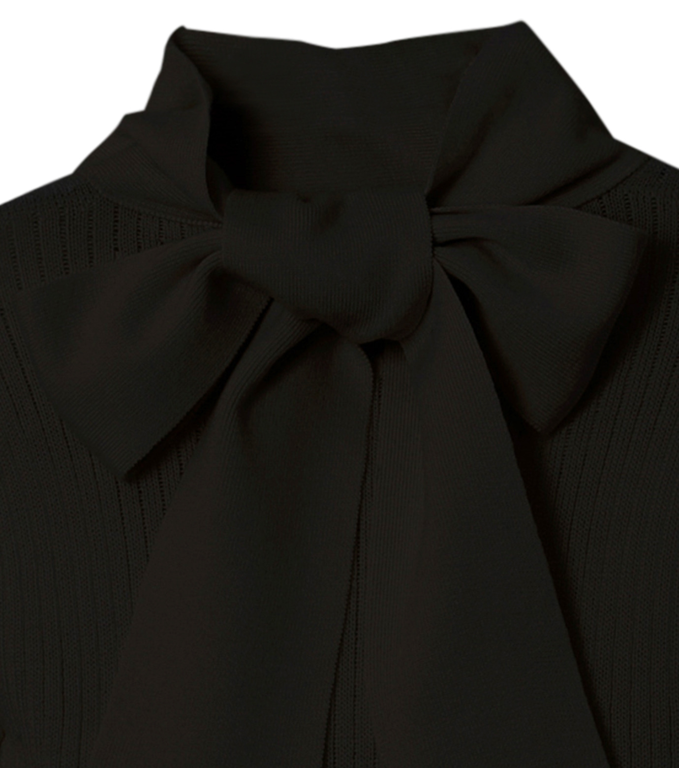 CHRISTIAN DADA(クリスチャン ダダ)のRib Turtleneck Bowtie Detail-BLACK(ニット/knit)-16W-D-0811-13 拡大詳細画像3