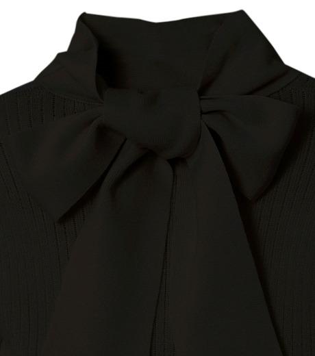 CHRISTIAN DADA(クリスチャン ダダ)のRib Turtleneck Bowtie Detail-BLACK(ニット/knit)-16W-D-0811-13 詳細画像3