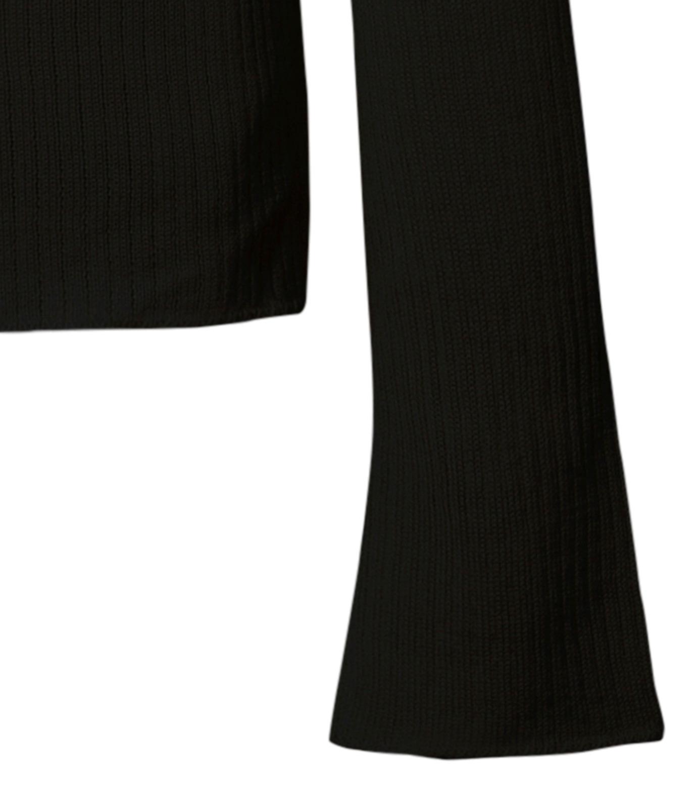 CHRISTIAN DADA(クリスチャン ダダ)のRib Turtleneck Bowtie Detail-BLACK(ニット/knit)-16W-D-0811-13 拡大詳細画像4