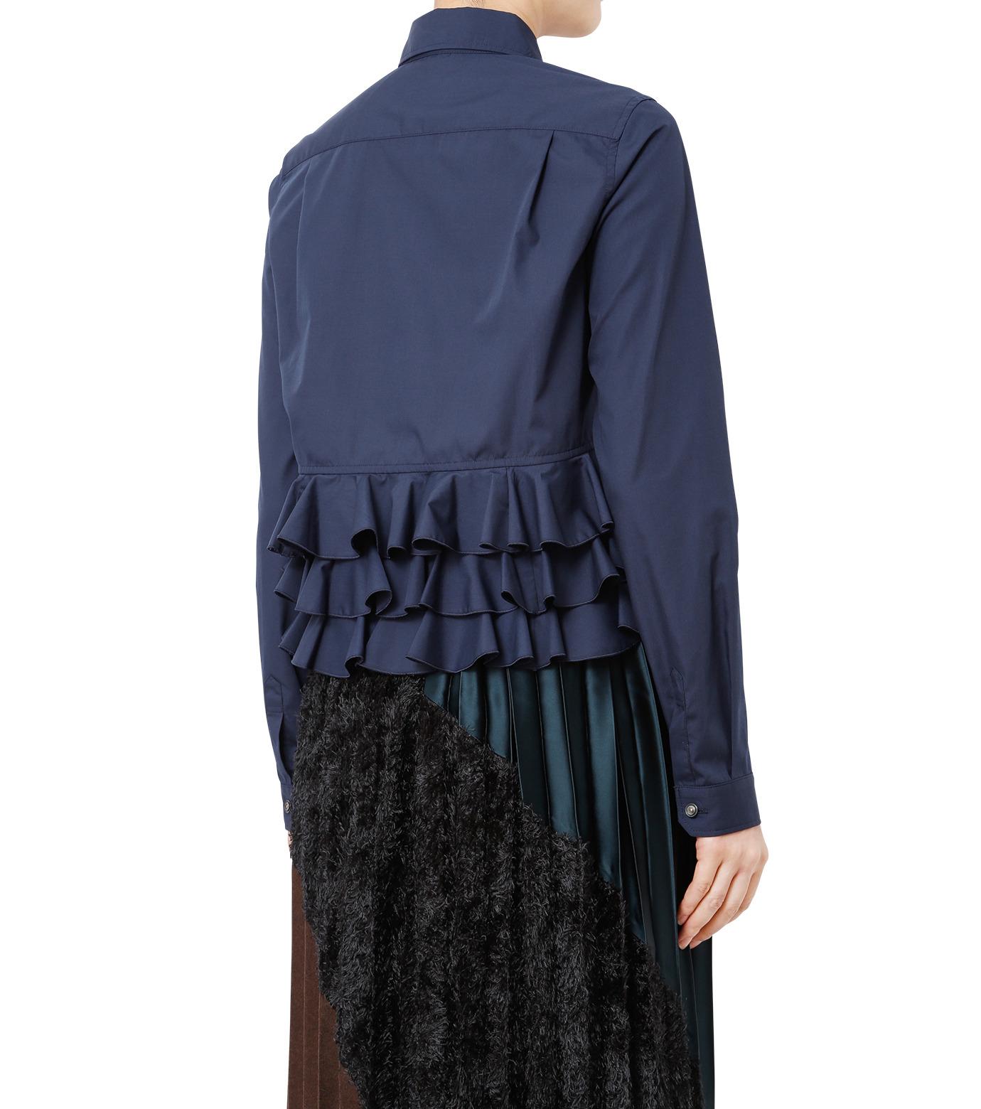KOLOR(カラー)のShirt w/Back Ruffle Detail-NAVY(シャツ/shirt)-16WCL-B02134-93 拡大詳細画像2