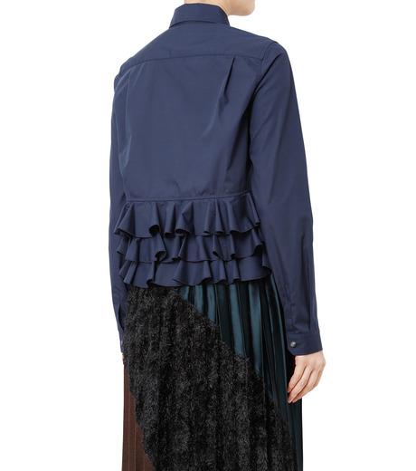 KOLOR(カラー)のShirt w/Back Ruffle Detail-NAVY(シャツ/shirt)-16WCL-B02134-93 詳細画像2