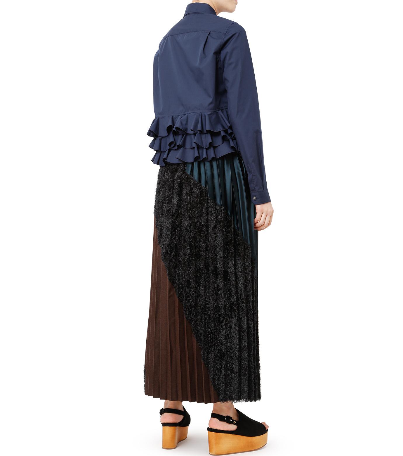 KOLOR(カラー)のShirt w/Back Ruffle Detail-NAVY(シャツ/shirt)-16WCL-B02134-93 拡大詳細画像4