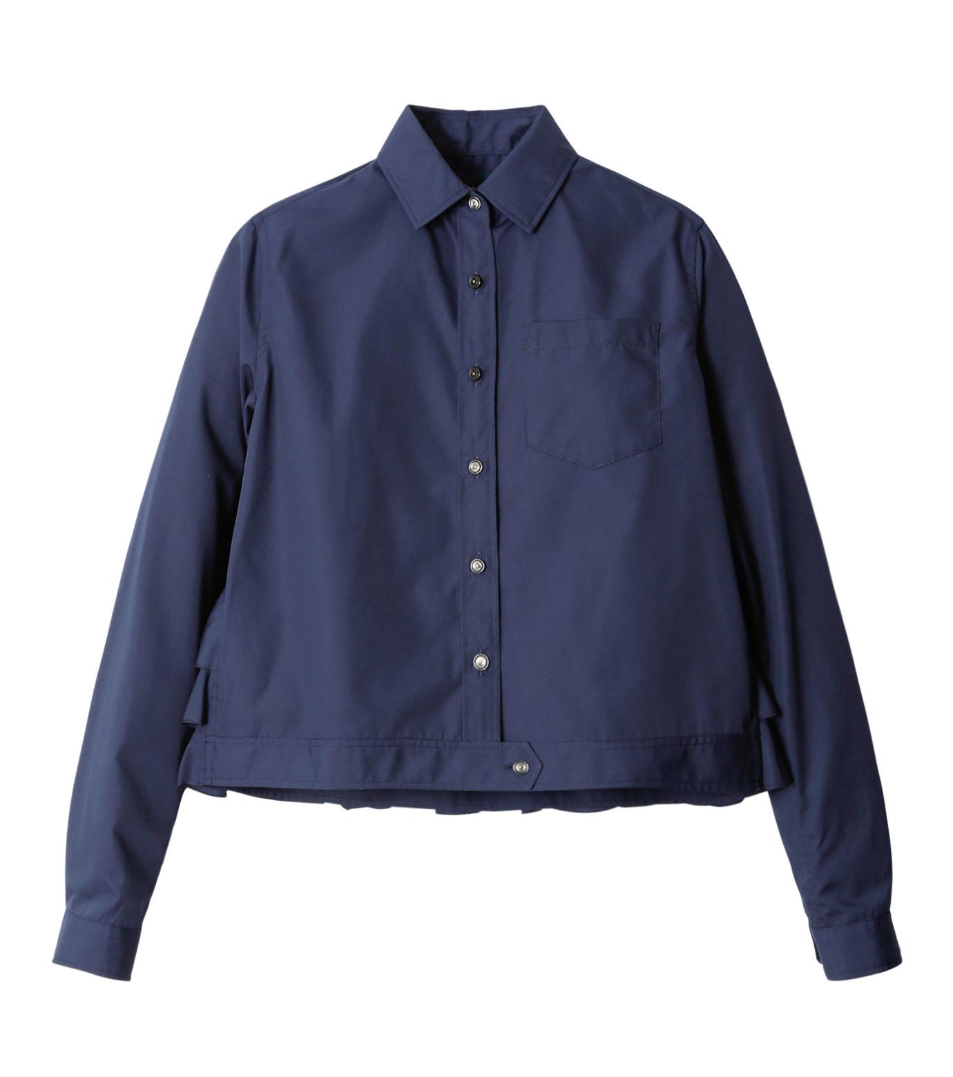 KOLOR(カラー)のShirt w/Back Ruffle Detail-NAVY(シャツ/shirt)-16WCL-B02134-93 拡大詳細画像5