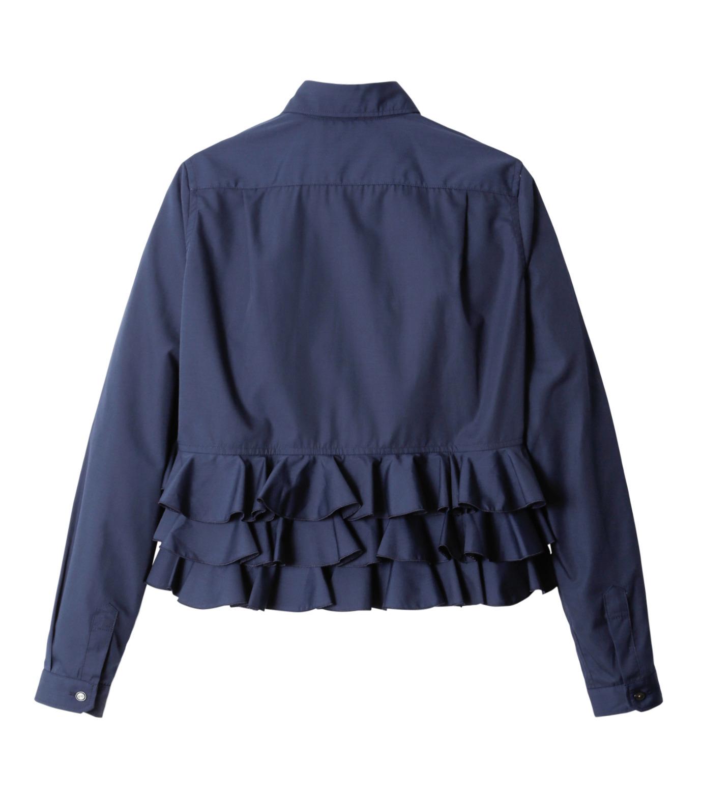 KOLOR(カラー)のShirt w/Back Ruffle Detail-NAVY(シャツ/shirt)-16WCL-B02134-93 拡大詳細画像6