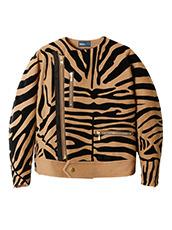 KOLOR(カラー) Melton Flocky Zebra Blouson