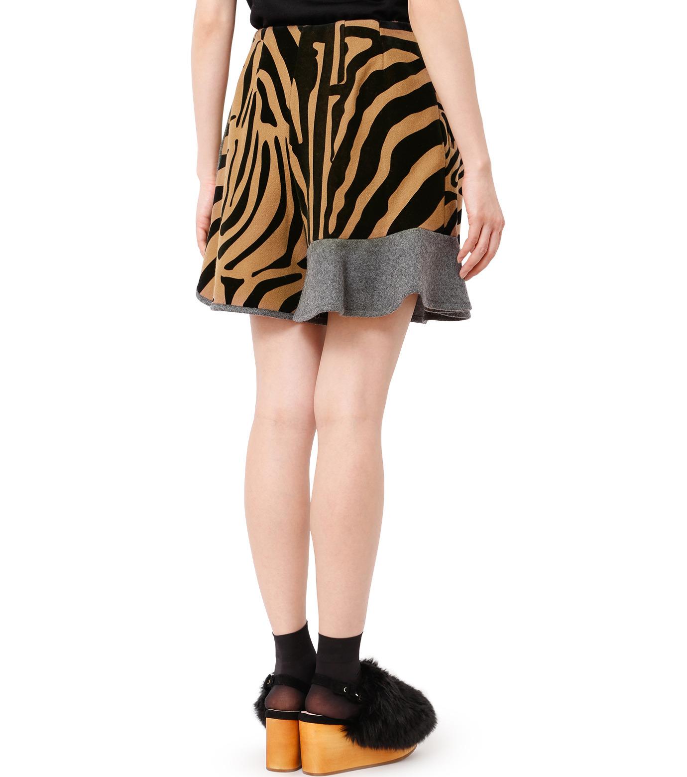 KOLOR(カラー)のMelton Flocky Zebra Mini Skirt-CAMEL(スカート/skirt)-16WCL-P02130-53 拡大詳細画像2