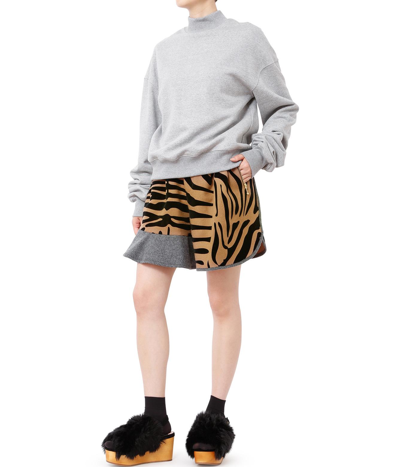 KOLOR(カラー)のMelton Flocky Zebra Mini Skirt-CAMEL(スカート/skirt)-16WCL-P02130-53 拡大詳細画像3
