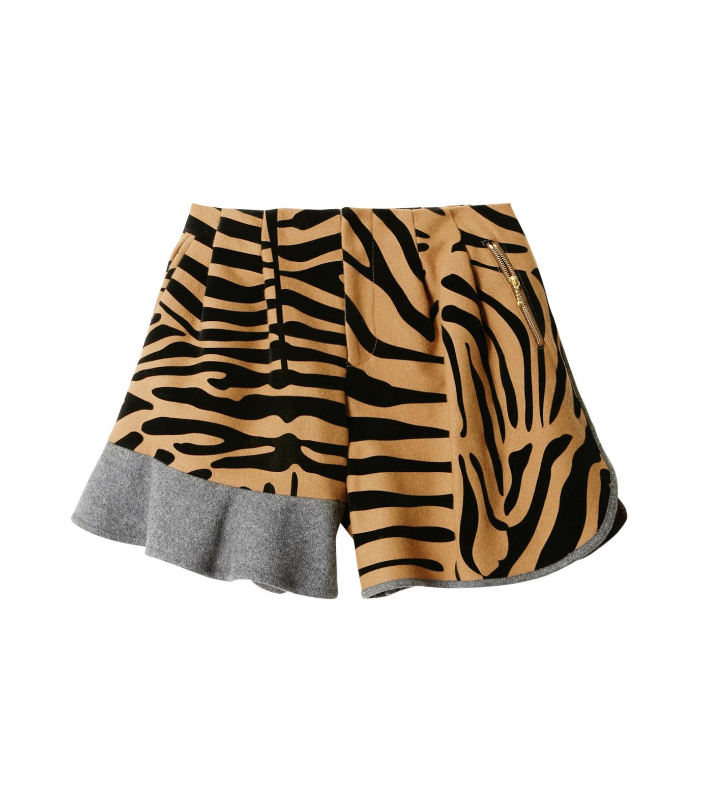 KOLOR(カラー)のMelton Flocky Zebra Mini Skirt-CAMEL(スカート/skirt)-16WCL-P02130-53 拡大詳細画像4
