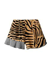 KOLOR(カラー) Melton Flocky Zebra Mini Skirt