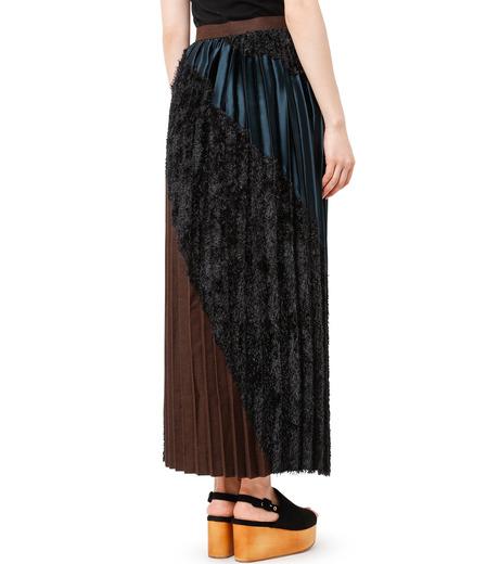KOLOR(カラー)のLong Pleated Skirt Mixed Jacquard-BLACK(スカート/skirt)-16WCL-S03129-13 詳細画像2