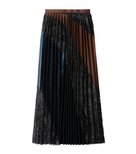 KOLOR(カラー)のLong Pleated Skirt Mixed Jacquard-BLACK(スカート/skirt)-16WCL-S03129-13 詳細画像4