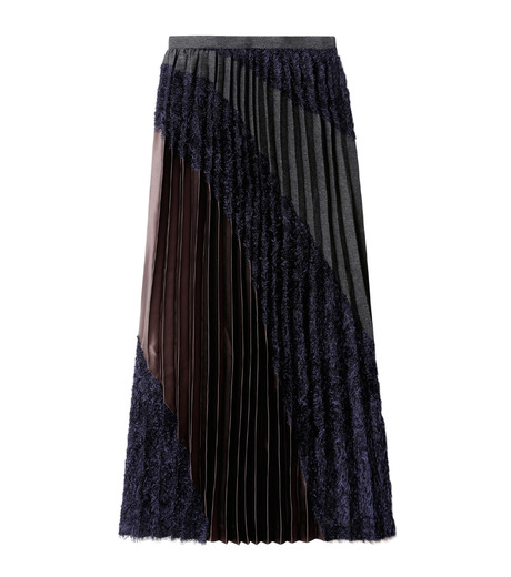 KOLOR(カラー)のLong Pleated Skirt Mixed Jacquard-NAVY(スカート/skirt)-16WCL-S03129-93 詳細画像4