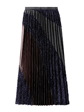 KOLOR Long Pleated Skirt Mixed Jacquard