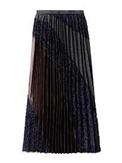 KOLOR(カラー) Long Pleated Skirt Mixed Jacquard