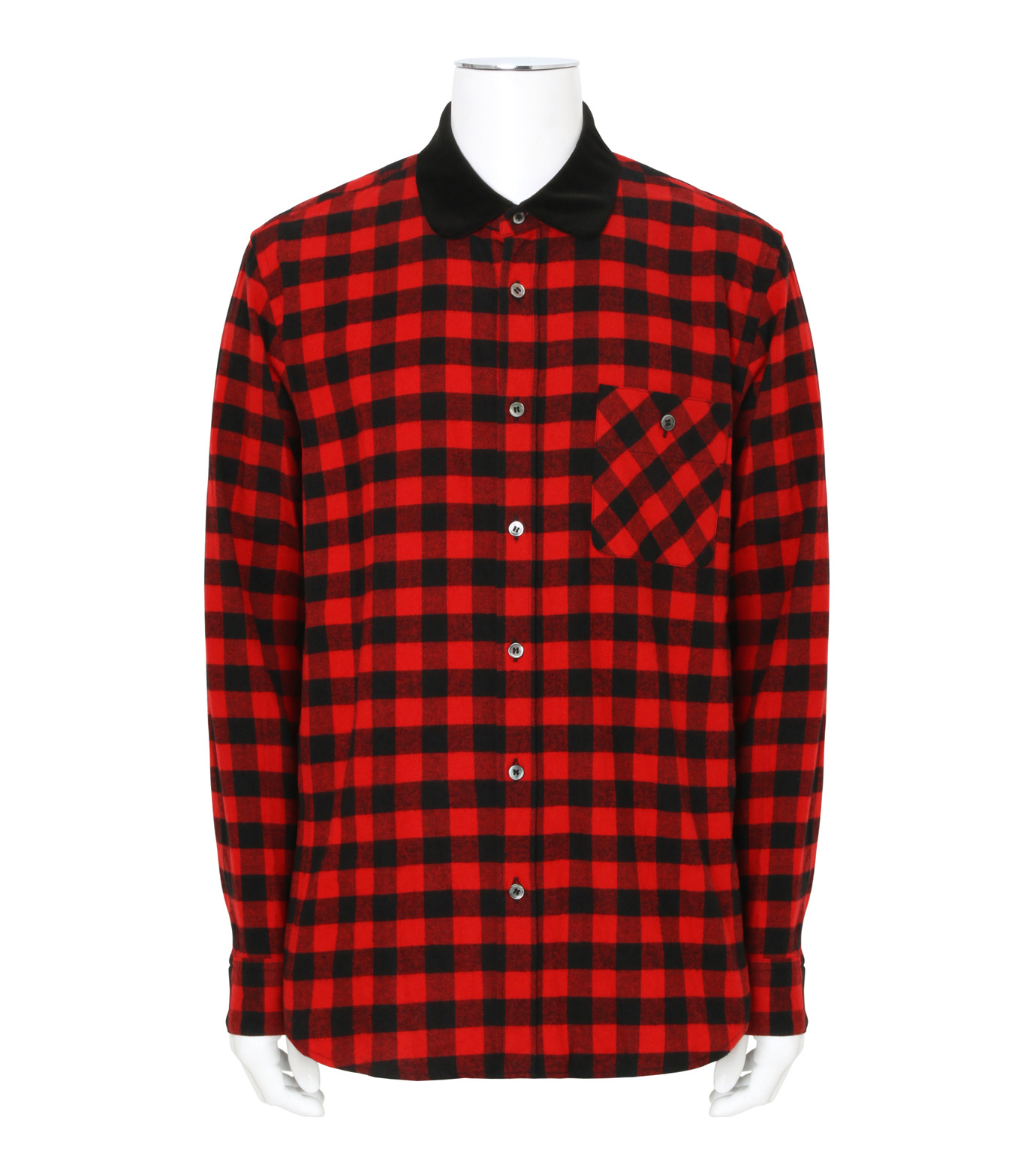 Sacai(サカイ)のTartan Check Shirt-RED(シャツ/shirt)-17-01237M-62 拡大詳細画像1