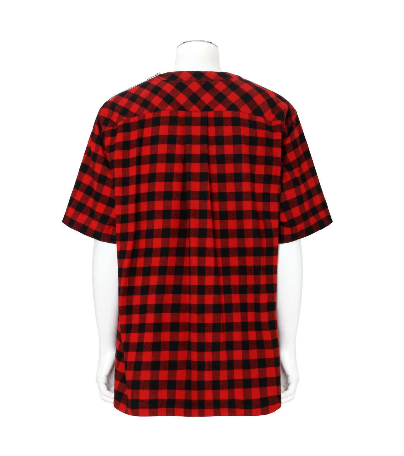 Sacai(サカイ)のTartan Check Pullover-RED(カットソー/cut and sewn)-17-01239M-62 拡大詳細画像2