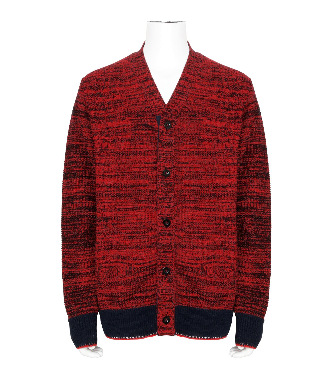 Sacai(サカイ)のKnit Cardigan-RED(ニット/knit)-17-01243M-62 拡大詳細画像1